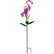 Evergreen 38 in. H Twinkling Light Solar Flamingo Garden Stake