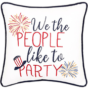 C & F Home We The People Pillow, 10 in. x 10 in. Blue