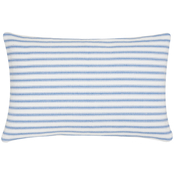 C & F Home Ticking Stripe Cornflower Pillow, 14 in. x 22 in. Cornflower