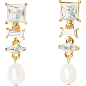 Vince Camuto Goldtone Crystal Linear Clip Earrings