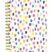TF Publishing Rainbow Bright Dots Spiral Lined Journal