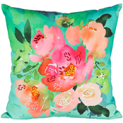 Evergreen 18 in. Outdoor Safe Floral Canvas Pillow