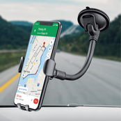 Merkury Innovations Flexible Gooseneck Gravity Car Mount with Dashboard Plate