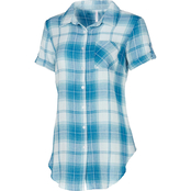 JW Plaid Double Fabric Woven Tunic