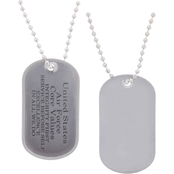 Challenge Coin Army/Air Force Values Dog Tag