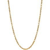 14K Gold Diamond Cut Semi Solid Rope Chain Necklace