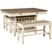 Signature Design by Ashley Bolanburg 3 pc. Counter Dining Set