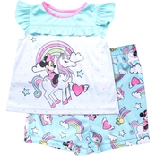Disney Infant Girls Minnie Mouse Unicorn Dreams 2 pc. Polyester Set