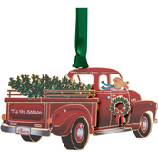 ChemArt Tis Season Pickup Truck Ornament