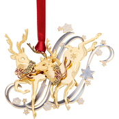 ChemArt Frolicking Reindeer Ornament