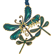 ChemArt Breezy Dragonfly Collage Ornament