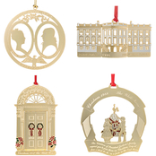 ChemArt White Houese 1985 to 1988 4 pc. Ornament Set