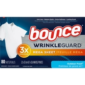 Bounce Wrinkle Guard Dryer Sheets Fresh 80 ct.