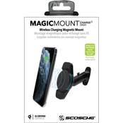 Scosche MagicMount Charge3 Universal Dash Mount 10w Qi Wireless Charger