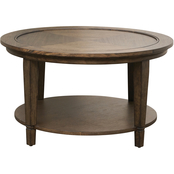 Bassett Lewiston Wood Top Round Cocktail Table