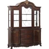 Homelegance Deryn Park Collection Hutch and Buffet