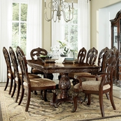 Homelegance Deryn Park Collection Double Table 7 pc. Set