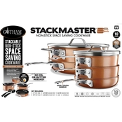 Gotham Steel StackMaster 10 pc. Space Saving Nonstick Cookware Set