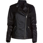 JW Missy Faux Leather Moto Jacket