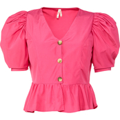 Rebellious One True Destiny Button Peplum Top