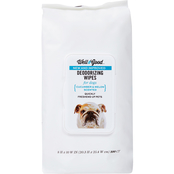 Well & Good Cucumber Melon Deodorizing Dog Wipes 100 pk.