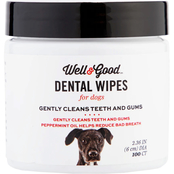Well & Good Dog Dental Wipes 100 pk.