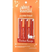 WholeHearted Chicken Recipe Puree Squeezable Cat Treats 4 ct., 0.5 oz.