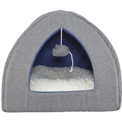 Harmony Igloo Hooded Cat Bed, Grey