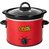 Nostalgia Home Taco Tuesday 2 qt. Fiesta Slow Cooker