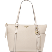 Michael Kors Nomad Large Top Zip Leather Tote