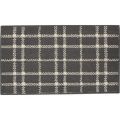 Mohawk Home Blakely Plaid Grey 20 x 34 in. Area Rug