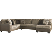 Signature Design by Ashley Abalone Corner Chaise Armless Loveseat Sofa