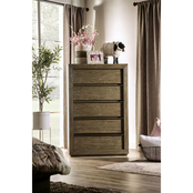 Furniture of America Bridgewater Collection Five Drawer Chest