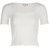 Poof Apparel Drop Needle Square Neck Top