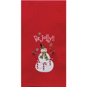 Kay Dee Designs Holiday Joy Be Jolly Embroidered Waffle Towel