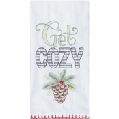 Kay Dee Designs Joy in Winter Get Cozy Embroidered Flour Sack Towel