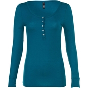 JW Rib Henley Top
