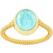 James Avery 14K Sculpted Ladybug Teal Triplet Ring