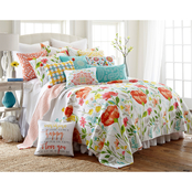 Levtex Home Laurel Coral Quilt Set