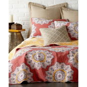 Levtex Home Lena Red Quilt Set