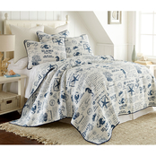 Levtex Home Beach Life Navy Quilt Set