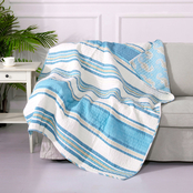 Levtex Home Blue Maui Quilted Throw