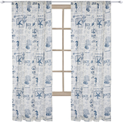 Levtex Home Beach Life Navy Drape Panel