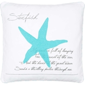 Levtex Home Biscayne Teal Starfish Pillow