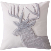 Levtex Home Camden Grey Faux Fur Moose Pillow