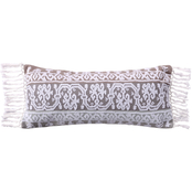 Levtex Home Josie Spa Crewel Embroidered Tassel Trim Pillow