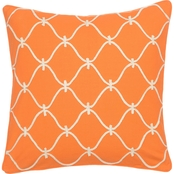 Levtex Home Serendipity Orange Rope Pillow