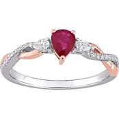 Sofia B. Twotone 14K Gold Ruby and Diamond Ring