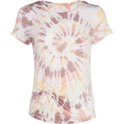Wallflower Juniors Side Ring Detail Tie Dye Tee