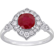 Sofia B. 14K White Gold Ruby and Diamond Ring